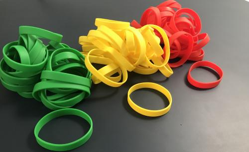 Back To Work Covid Traffic Light Silicone Wristbands image