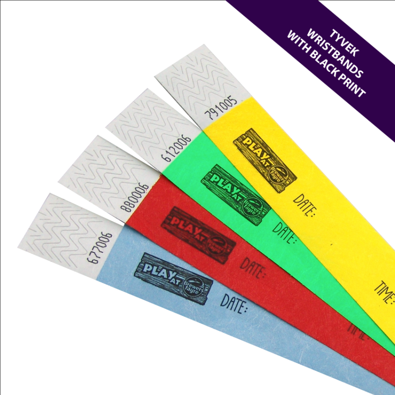 graphic about Printable Tyvek Wristbands called Custom made Released 25mm Tyvek Wristbands MPM Wristbands